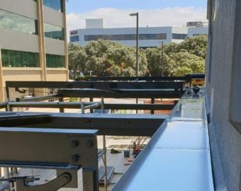 Custom fabricated aluminium gutters